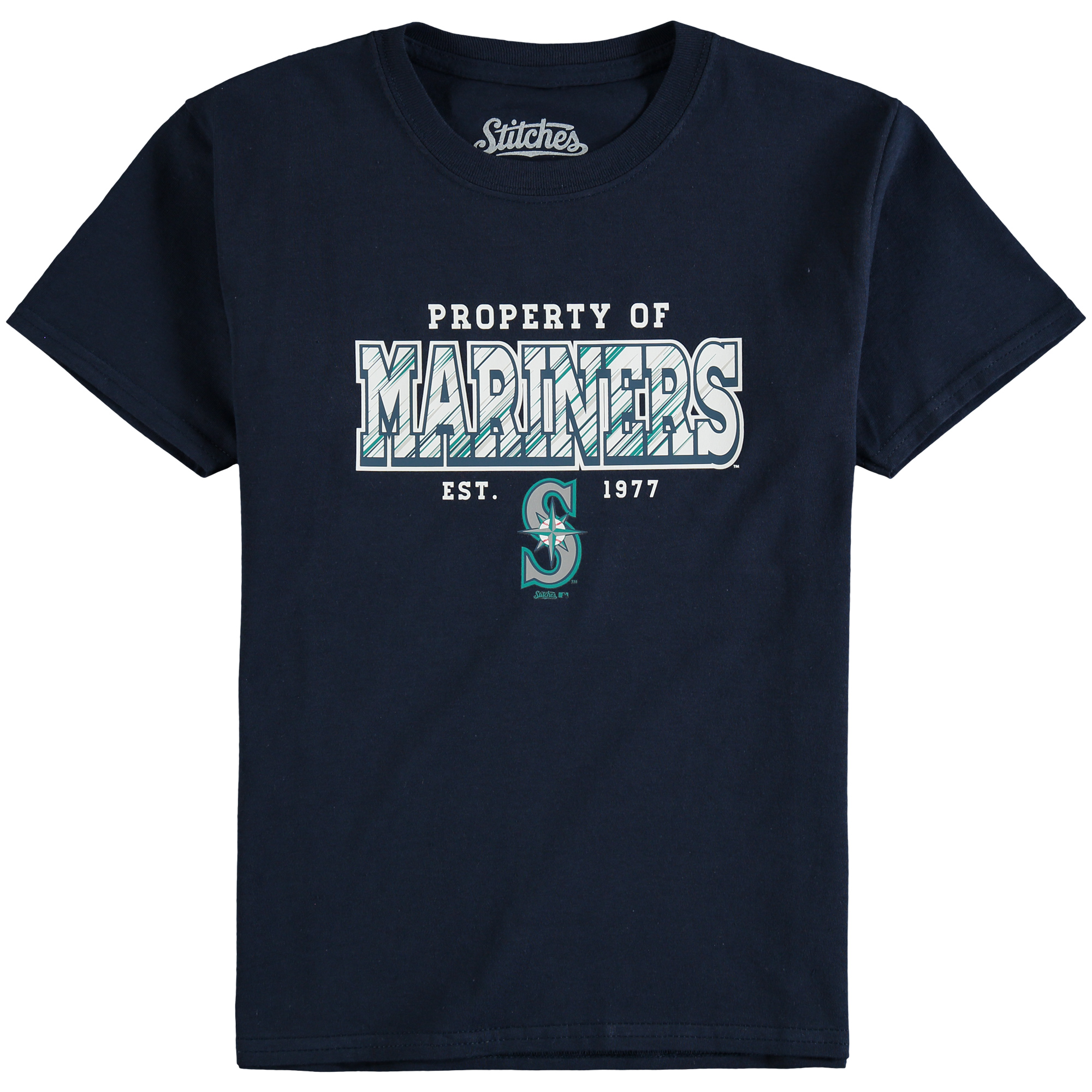 Seattle Mariners Stitches Youth Property Of Team T-Shirt - Navy