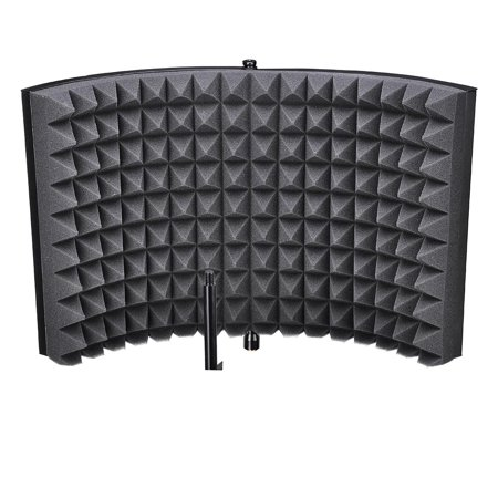 Yescom Studio Microphone Isolation Shield Acoustic Foam Panel Sound Absorbing Recording Panel Stand Mount