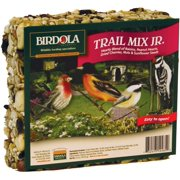 Birdola Trail Mix Jr. Seed Cake and Hearty blend of sunflower seeds, peanuts, raisins and assorted nuts