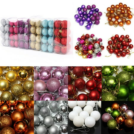 SUPERHOMUSE 24Pcs Christmas Tree Decorations Ball Baubles Party Wedding Xmas Ornament ()