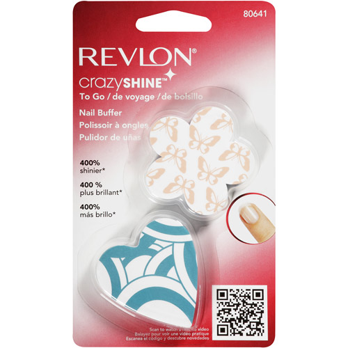 Revlon Crazy Shine to Go Nail Buffers, 2 count