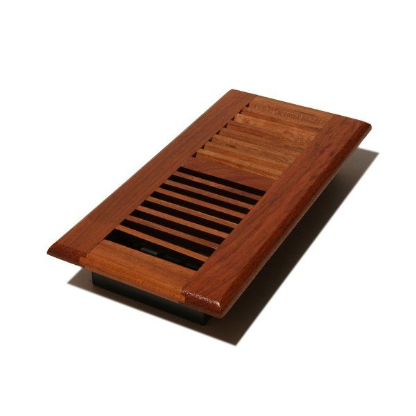 Decor Grates Louvered Solid Cherry Floor Register (8-pack) 2x12