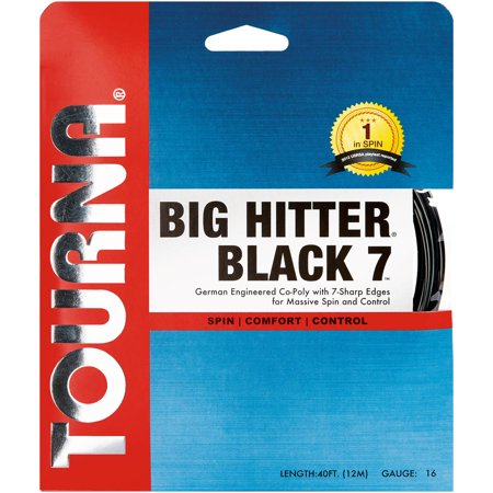 Tourna Big Hitter Black 7 Tennis String, 16G