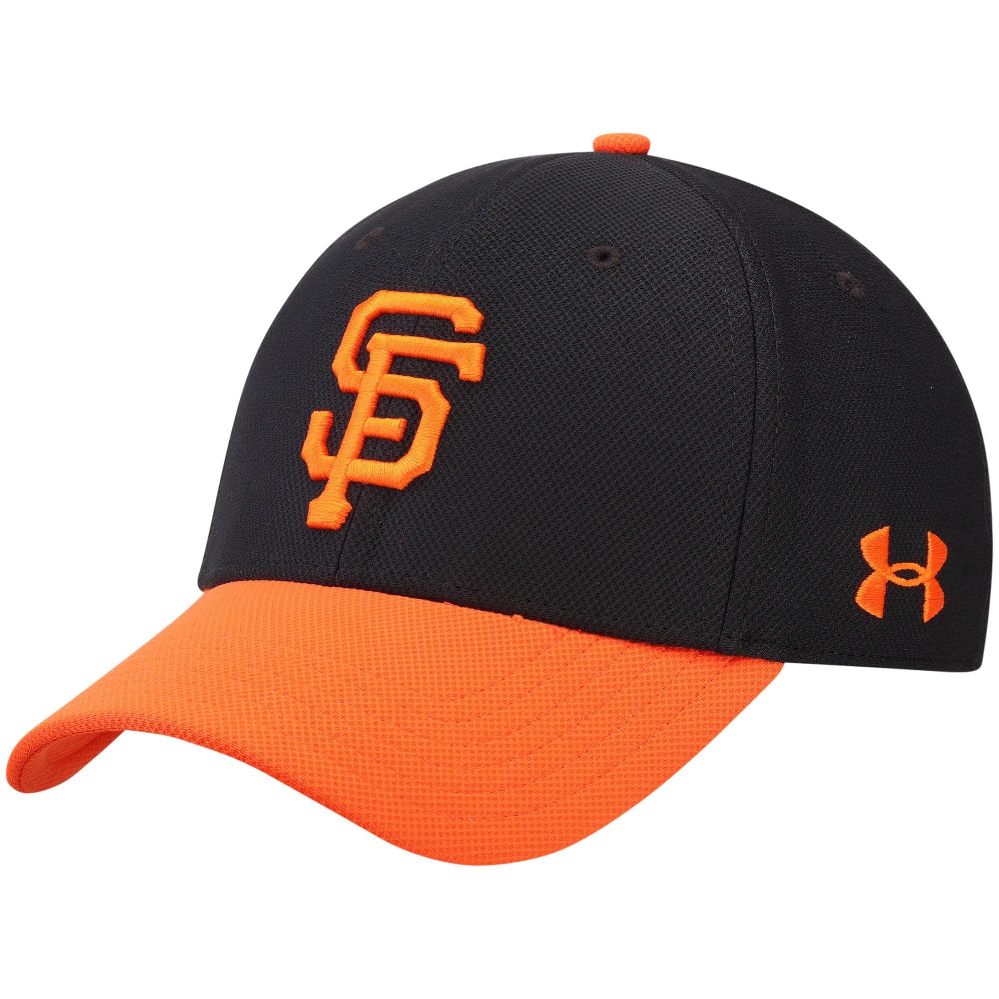 San Francisco Giants Under Armour Blitzing Performance Adjustable Hat - Black/Orange - OSFA