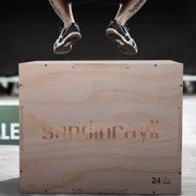 Jaxpety 3 in 1 Wood Plyometric Box for Jump Training 30/24/20 Plyo Exercise Strength