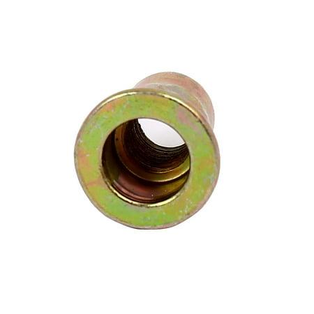 6mmx15mm Tête plat corps hexagonal Semi Fin ouverte écrous rivet Fixations 20pcs - image 1 de 4