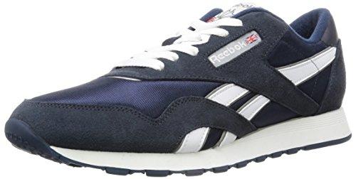 Reebok 39749 : Men's Classic Sneaker, Team Navy Platinum (13 D(M) US, Team Navy Platinum) by Reebok Lifestyle Footwear