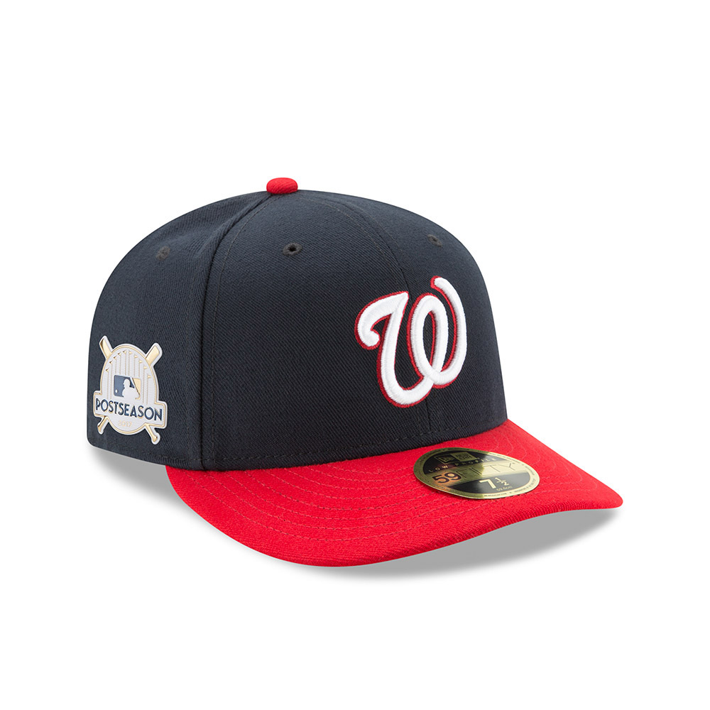 239dcc3f847 ... closeout washington nationals new era 2017 postseason alternate side  patch low profile 59fifty fitted hat navy