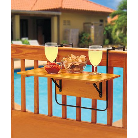 The Lakeside Collection Folding Deck Table