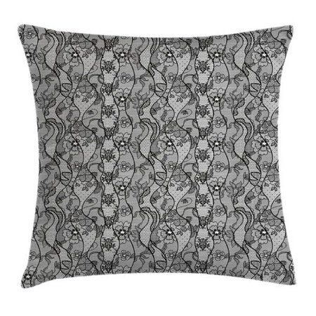 Ambesonne Antique Lace Gothic Pattern Pillow Cover