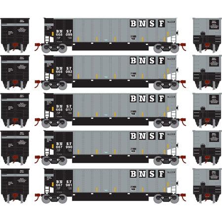 - Athearn 24981 N Burlington Northern Santa Fe Bethgon Coalporter with Load #1 (5)