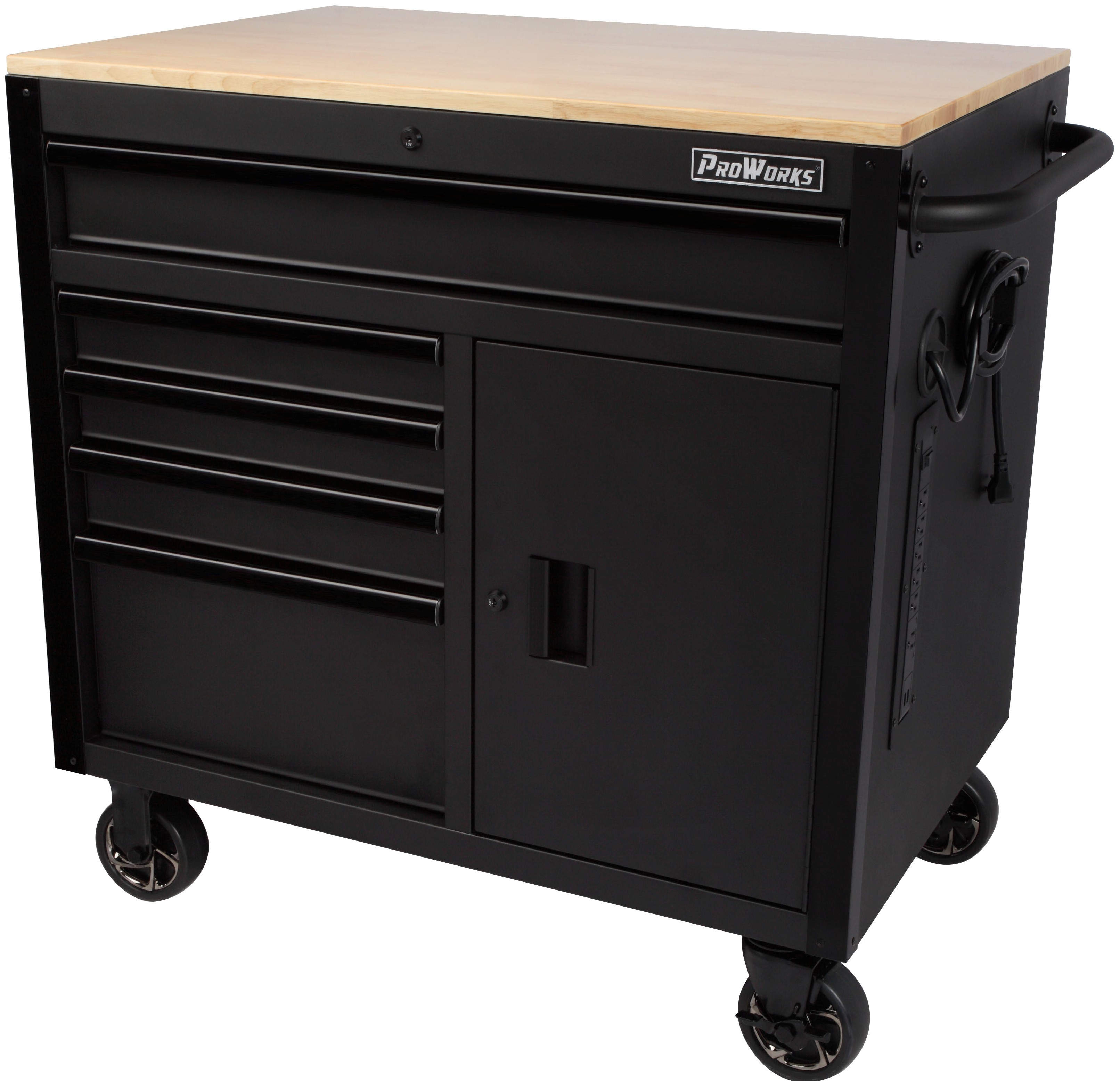 Wondrous Proworks 36 Inch W X 24 5 Inch D 5 Drawer 1 Door Mobile Tool Ibusinesslaw Wood Chair Design Ideas Ibusinesslaworg