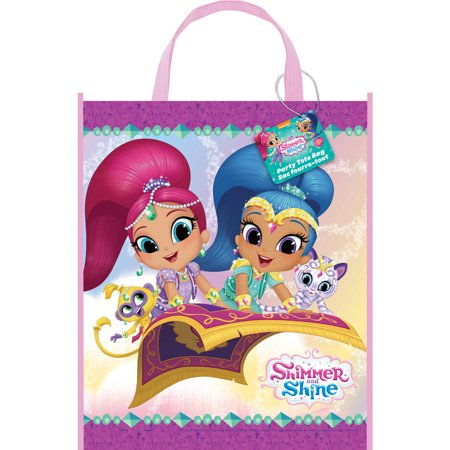 Large Plastic Shimmer and Shine Goodie Bag, 13 x 11 in, 1ct ()