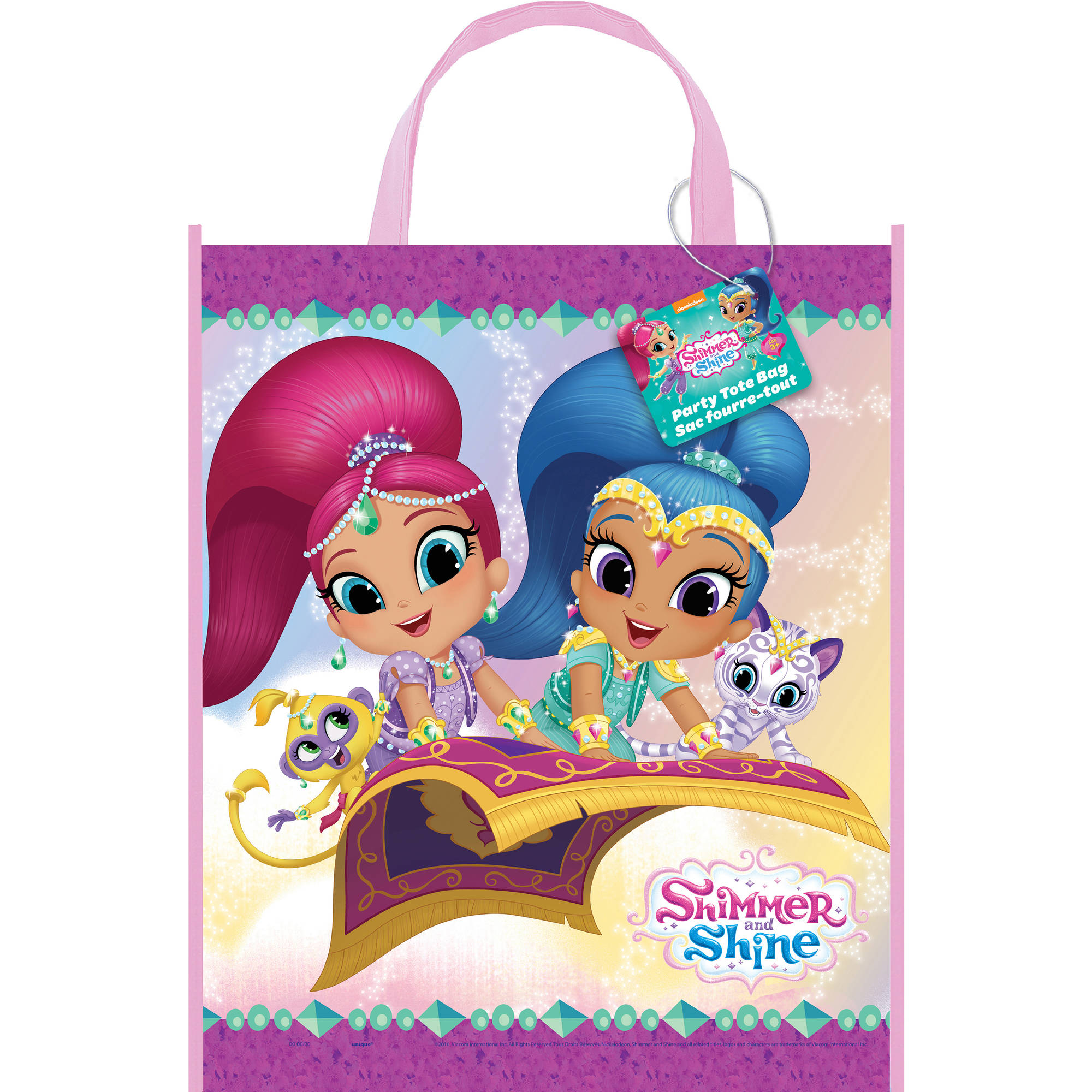 Large Plastic Shimmer and Shine Goodie Bag, 13 x 11 in, 1ct