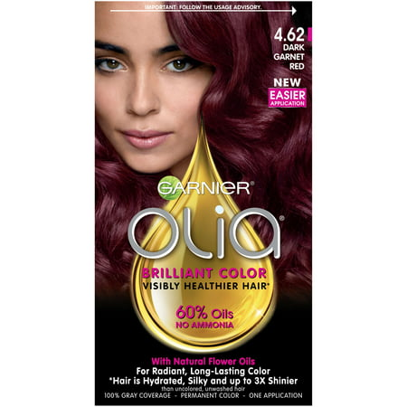 Garnier Olia Oil Powered Permanent Hair Color, 4.62 Dark Garnet Red