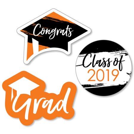 Graduation Face Cutouts (Orange Grad - Best is Yet to Come - DIY Shaped 2019 Graduation Party Cut-Outs - 24)
