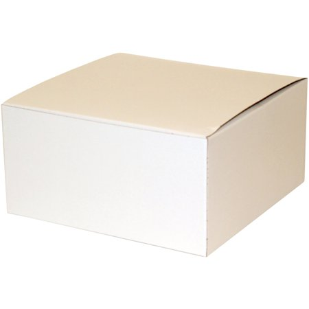 Premier Packaging White Decorative Gift Boxes 8 X 4 Pack Of 10