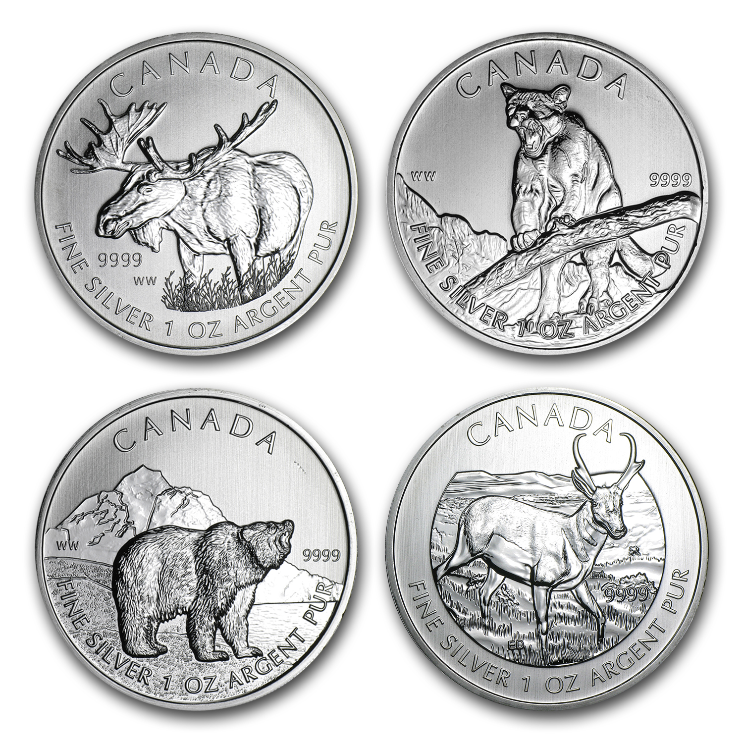 2011-2015 CAN 1 oz Silver Wildlife/Birds of Prey (Random)