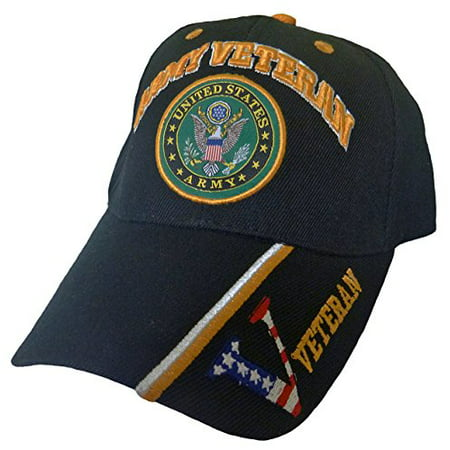 Buy Caps and Hats U.S. Army Veteran Military Baseball Cap Mens One Size Black