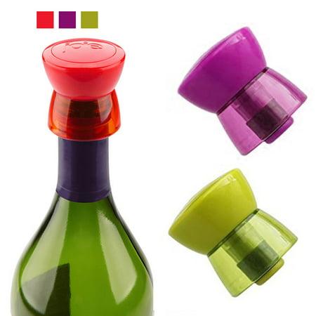 2 Wine Bottle Stopper Joie Twist Top Seal Cap Reusable Vacuum Sealed Cover Saver