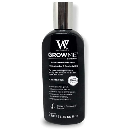 Waterman's Grow Me, Best Hair Growth Shampoo Sulfate Free, 8.45 Oz + Yes to Tomatoes Moisturizing Single Use