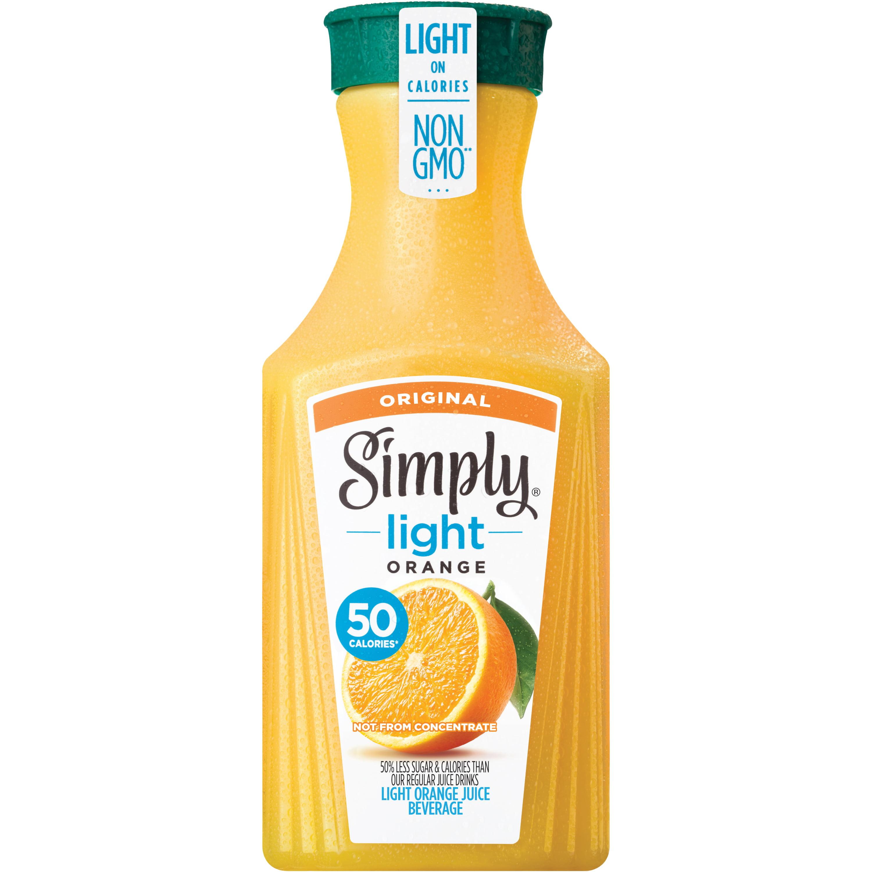 Simply Light Orange Pulp Free Orange Juice, Non-GMO, 52 fl oz