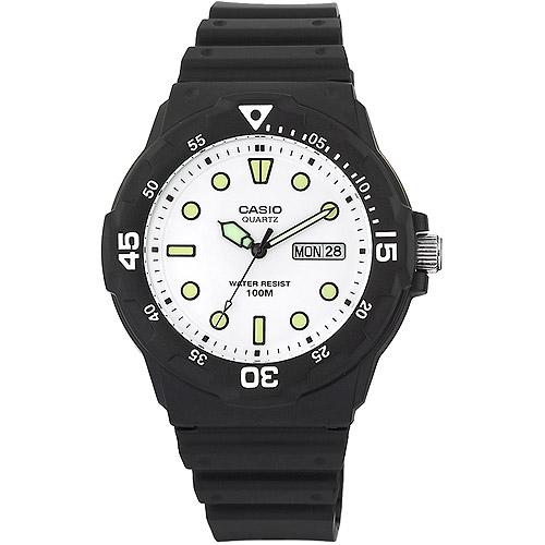 Casio Men's Analog Dive-Style Watch, Black Resin