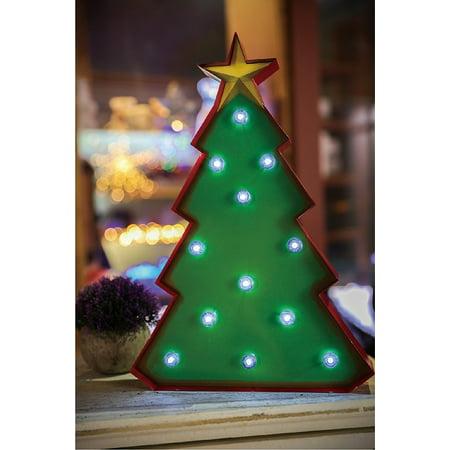 christmas festival indoor 12 led christmas tree star marquee light decor - Indoor Christmas Decorations Walmart
