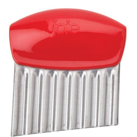 Garnish Cutter (Joie Stainless Steel Wavy Slicer Vegetable Garnishing Crinkle Cutter - Red)