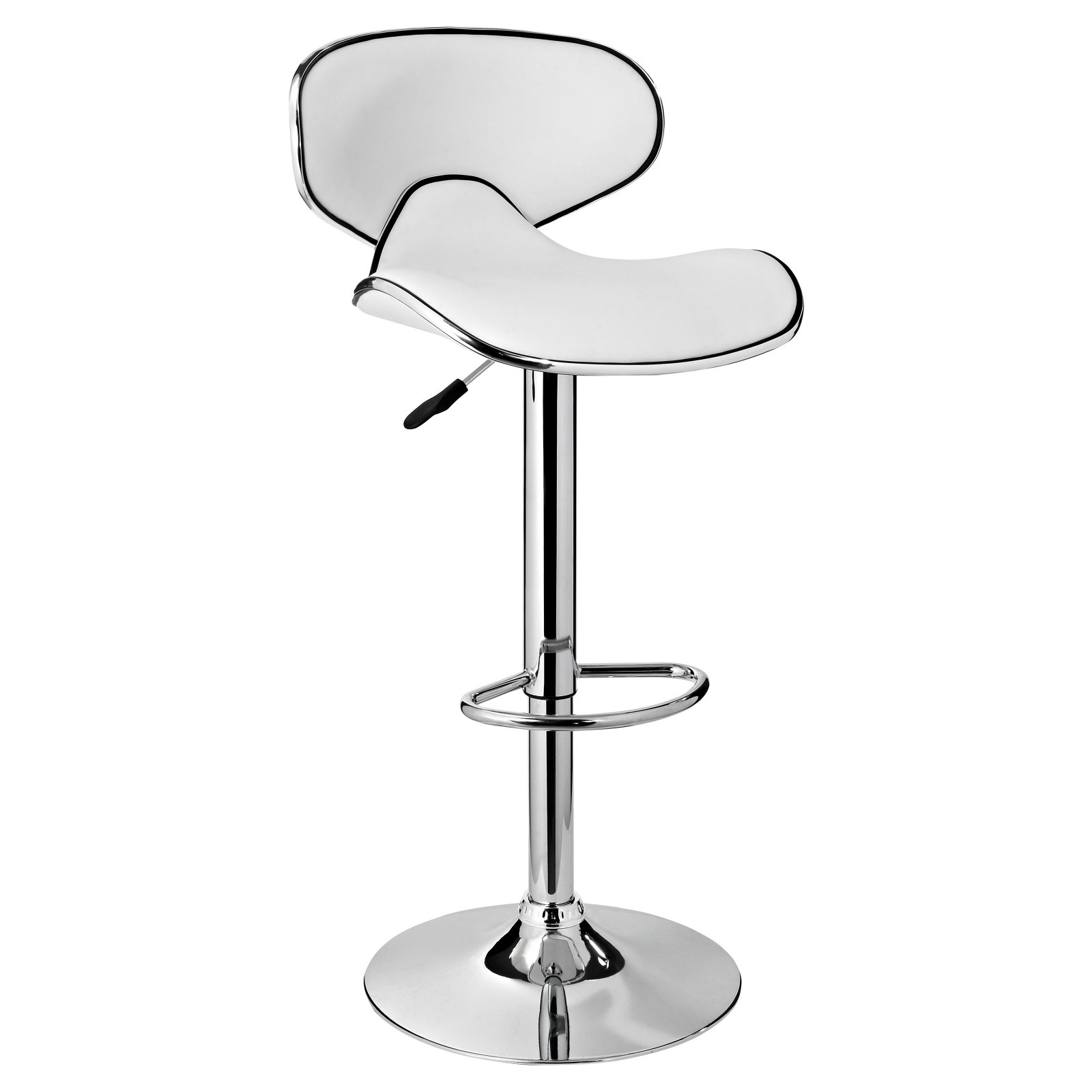 Powell Adjustable Bar Stool White & Chrome by Powell Furniture