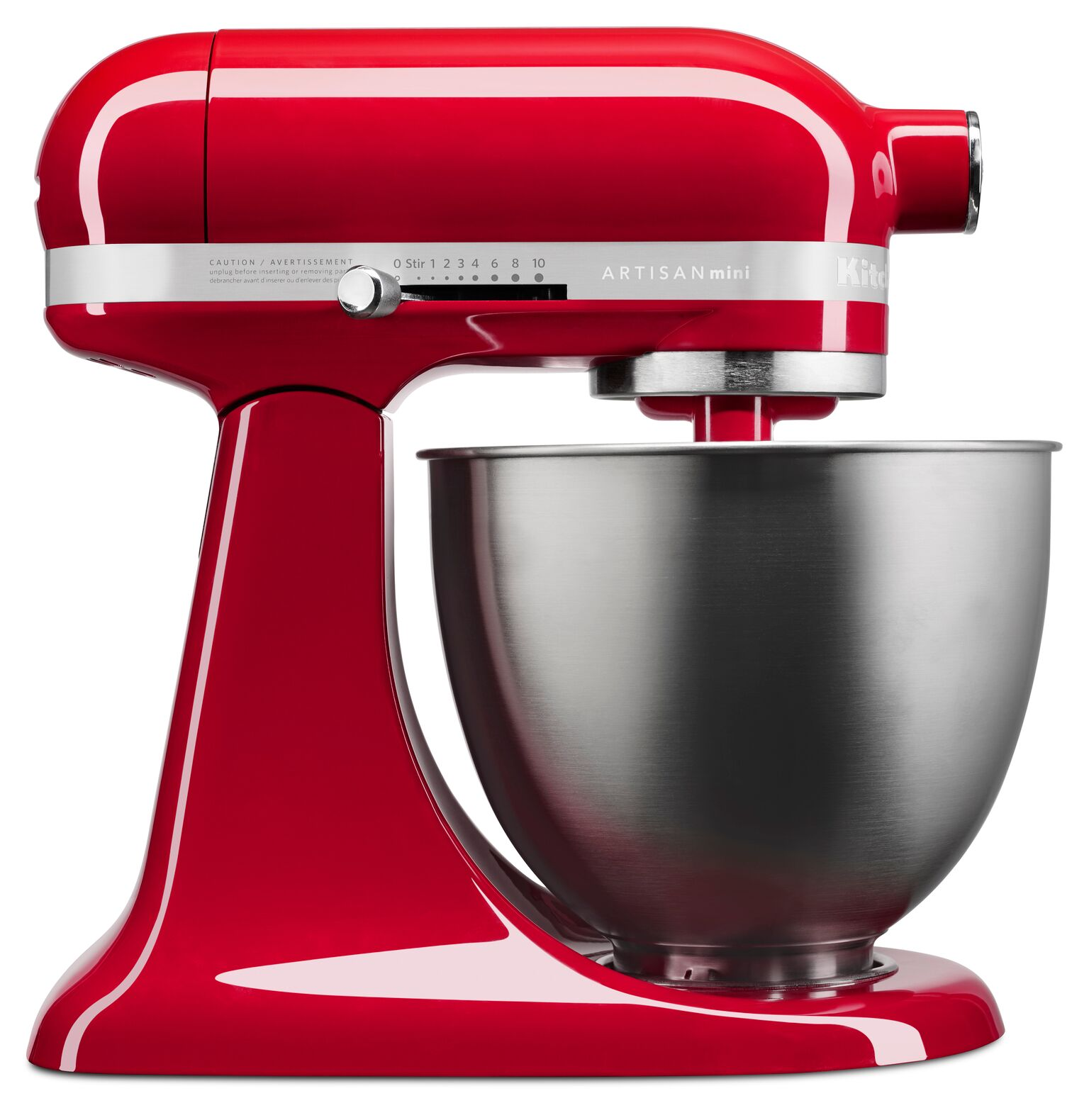 KitchenAid Artisan Mini 3.5 Quart Tilt-Head Stand Mixer, Contour Silver (KSM3311XCU)