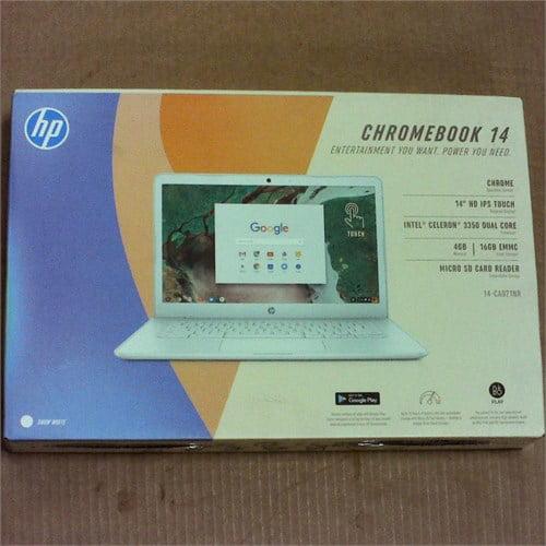 HP 14-ca021nr Touchscreen Chromebook 4GB 16GB 14in - White