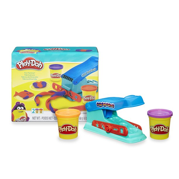 Play-Doh Basic Fun Factory Shape Making Machine, 2 Cans (4 oz ...