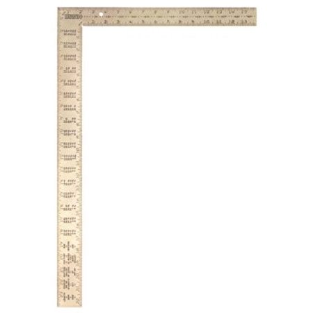 Irwin 1794449 Flat Framing Square  24 In  1 8  1 10  1 12  1 16 In  16 In Tongue  Steel