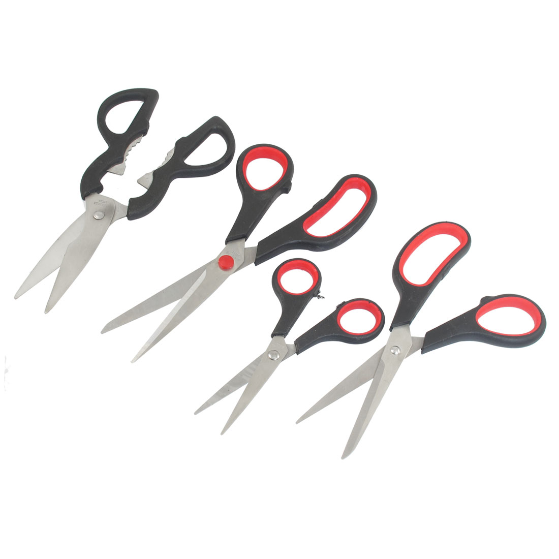 4 in 1 Assorted Size Stainless Stell Blade Kitchen Vegetable Scissor Set