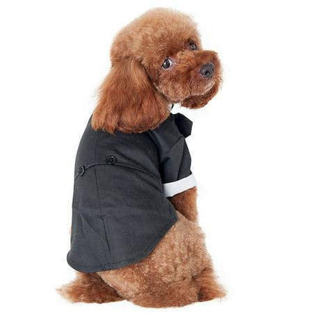 Pet Dog Suit Clothing Wedding Tuxedo Bow Tie Puppy Clothes Coat Dog Bow Tie