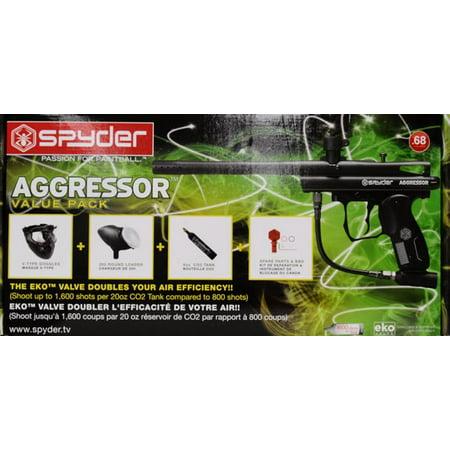 Spyder Aggressor Paintball Marker Kit (Spyder Paintball Gun Green)