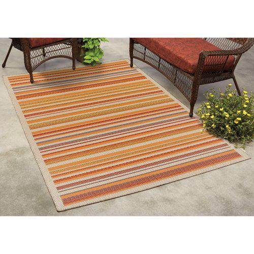 Mainstays Robins Stripe Indoor Outdoor Rug Walmart