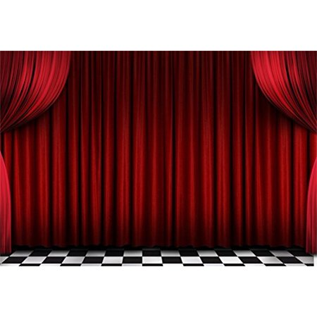 Dancesport Photo (HelloDecor Polyster 7x5ft Red Velvet Stage Curtains Backdrop Theater Scene Photography Background Kid Boy Girl Child Adult Portrait Festive Holiday Party Concert Dance Photo Studio Props Video Drape)