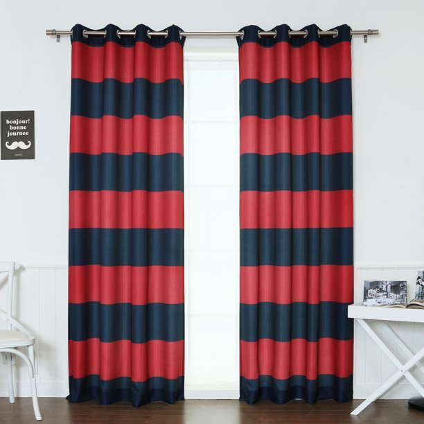 Quality Home Oxford Rugby Stripe, Rugby Stripe Curtains
