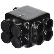 4 Wire Stacked Polaris 500 MCM 4 AWG Insulated MultiCable Connector Block, Either Side Wire Entry