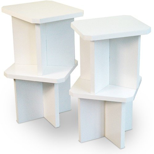 Way Basics Eco-Friendly Charlotte Stools x Four in White