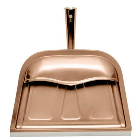 "11.75"" x 12.25"" Copper Hooded Dust Pan"