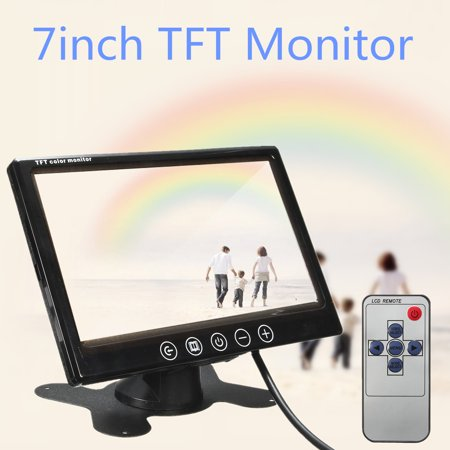 7 inch TFT LCD Colour CCTV Security Camera Car Reverse Backup Monitor Two way video input Remote Control - image 5 de 8