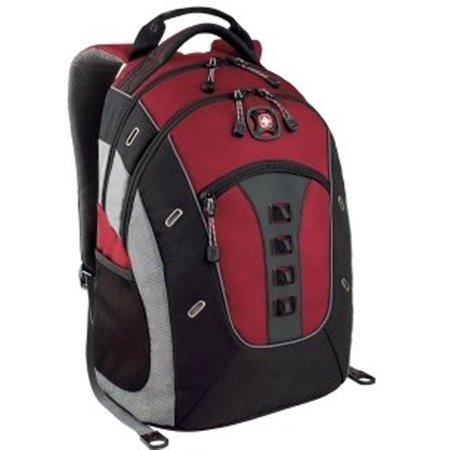 Wenger Swiss Gear Granite Deluxe Laptop Backpack Red Black 16 ...