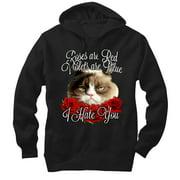 Grumpy Cat Men's I Hate You Hoodie
