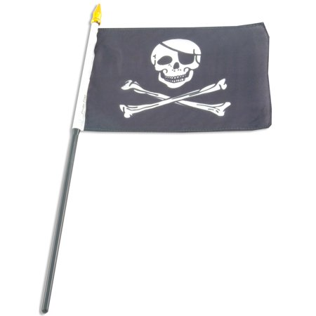 Pirate (Jolly Roger) Flag 4x6 inch hand flag