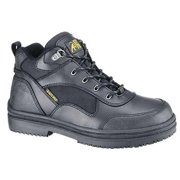 SHOES FOR CREWS 8090 Work Boots,Unisex,8,B,Blck,Hiker High,PR G0169508