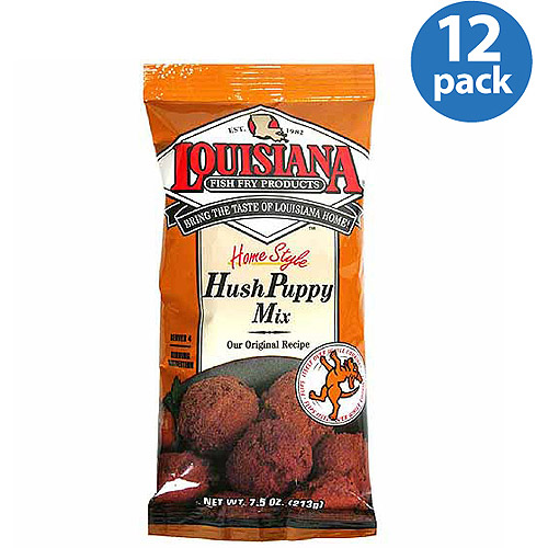 Louisiana Fish Fry Products Home Style Hush Puppy Mix, 7.5 oz, (Pack of 12)