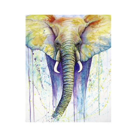 Elephant Colors Print Wall Art By Michelle - Elephant Color